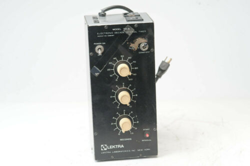 Lextra TM-8 Electronic Decade Interval Timer N5758
