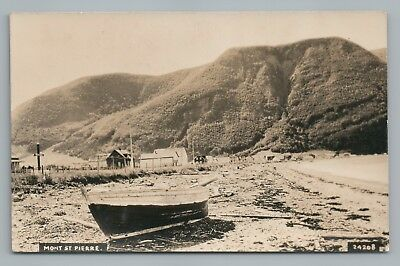 Mont St  Pierre Quebec Rppc Rare Antique Photo Cpa Gaspe 1930S