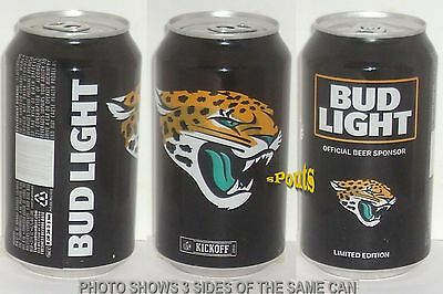 2016 Jacksonville Jaguars Nfl Kickoff Bud Light Beer Can Florida Football Sports