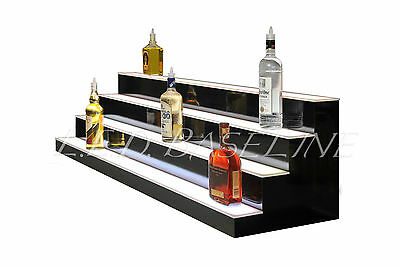 74 Led Bar Shelves Four Steps Lighted Bar Shelf Liquor Bottle Display Rack