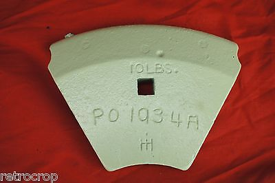 Inner Pie Weight Cub-151 12-d Disc Plow Farmall International Cub Tractor Disk