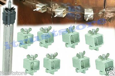 Spot Weld Cutter Drill Bit 8 Pc Butt Welding Clamps For Auto Body Panel Repair