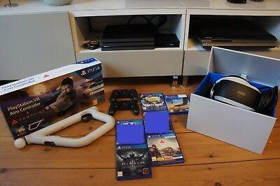 Playstation 4 PS4 Pro + VR + Kamera + Aim Controller & Farpoint + Games / Spiele gebraucht kaufen  Saulheim