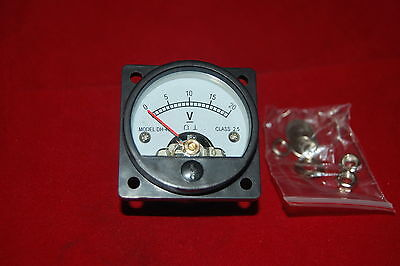 1pc Dc 0-20v Analog Voltmeter Panel Meter So45 Cutout 45mm Direct Connect