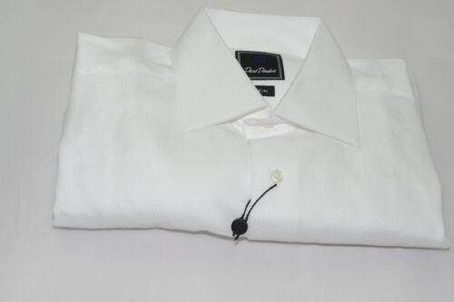 $135 NWOT David Donahue Trim Fit French Cuff Tuxedo or Dress Shirt 16 - 36/37