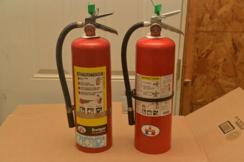 FIRE EXTINGUISHER 10lb ABC VARIOUS BRANDS  (REFURBISHED) SET OF 2  FREE SHIPPING