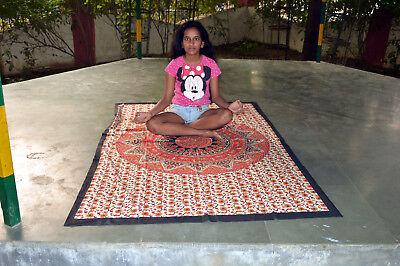 Yoga Mat Yoga Mat Cotton Original Indian Style Yoga Mat Cotton Boho Hand Printed