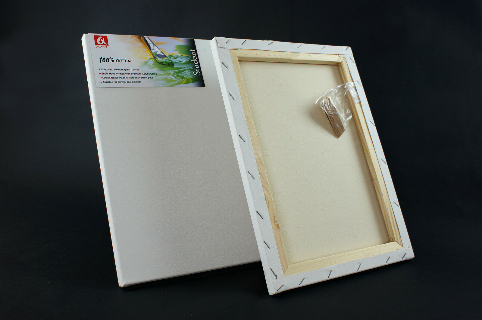 ARTIST BLANK STRETCHED & ACRYLIC PRIMED BOX FRAMED 100% COTTON ART CANVAS BEST Q - 2