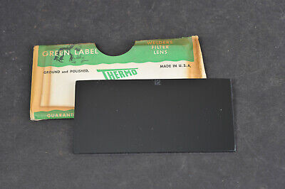 Vtg Green Label Thermo Welders Welding Filter Lens Plate - Shade 12 Usa Made 2