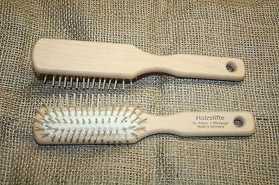 Haarbürste, Holzbürste, Ahornholz, echte Holzstifte, Bürste, 5reihig