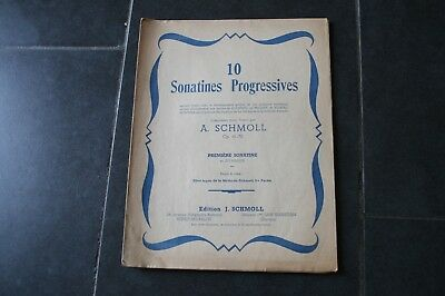 ANCIENNE PARTITION 10 SONATINES PROGRESSIVES.