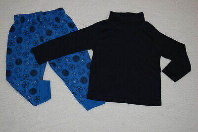 Baby Boys Outfit NAVY L/S TURTLENECK SHIRT Royal Blue Sports Sweat Pants 18 MO