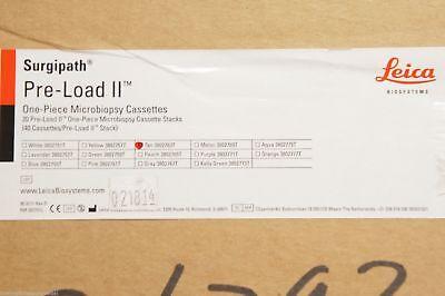 Leica 3802763t Tan Surgipath Pre-load Ii One-piece Microbiopsy Cassettes Case
