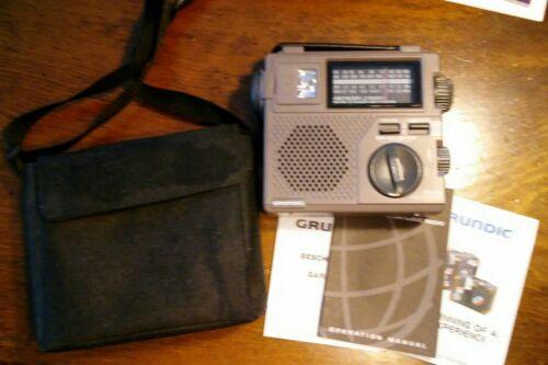 Grundig FR200 Emergency Hand Crank AM/FM/OC Shortwave Radio