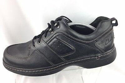 Clarks Active 71431 Air Black Leather Moc Toe Comfort Oxfords Shoes Men's 12 M-