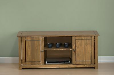 Santiago wooden tv stand solid pine television cabinet entertainment unit