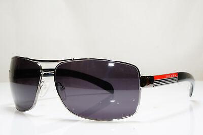 PRADA Mens Designer Sunglasses Black Pilot SPS 54I 5AV-5Z1 26413