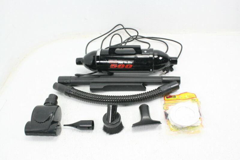 METROVAC Black High Performance Hand Vacuum w Turbo Driven Rotating Brush