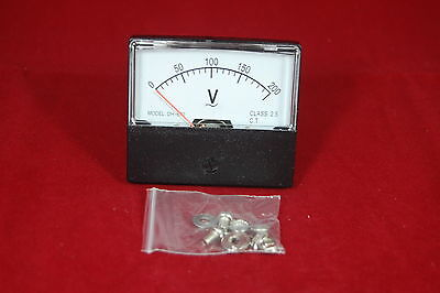 Ac 0-200v Analog Voltmeter Analogue Voltage Panel Meter 6070mm Directly Connect