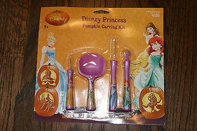 Disney Princess Pumpkin Carving Kit Halloween 4 Tools 6 Patterns Princesses](Princess Pumpkin Carving)