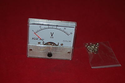 Dc 0-50v Analog 85c1 Voltage Analogue Panel Meter Directly Connnected