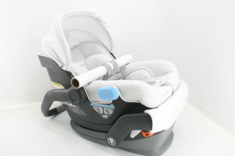 UPPAbaby MESA Infant Car Seat Bryce White Grey Marl SmartSecure 1017-MSA-US-BRY