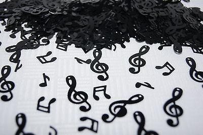 Konfetti Tischdekoration Musik Noten Notenschlüssel schwarz