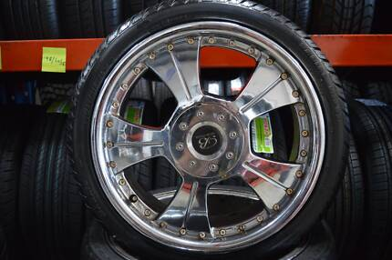 """4 SET MAG 17"""" WHEELS WITH TYRES MULTI 4 STUDS + GOOD CONDITION Virginia Brisbane North East Preview"""