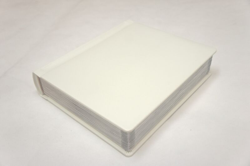 Professional 8x10 ivory Silver Edged Photo Album -30 Photo (Engraving Available)