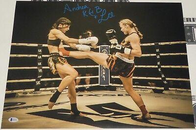Andrea KGB Lee Signed 16x20 Photo BAS Beckett COA UFC LFA Invicta FC Autograph 4