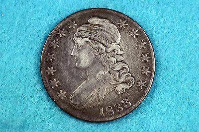 Estate Find 1833 Capped Bust Half Dollar  #D10656