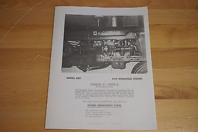 Mw Gear Co Mw Live Hydraulic Pump Kit Brochure Ih Farmall H M Super H Super M