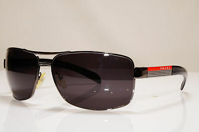 PRADA Mens Designer Sunglasses Black Square SPS 54I 5AV-5Z1 26361