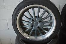 4 SET 17 ALLOY WHEELS WITH TYRES 4x114 STUDS + GOOD CONDITION Virginia Brisbane North East Preview