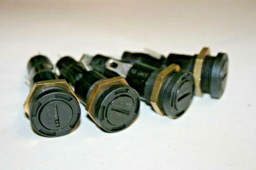 4 PACK Bulgin® 0347RD  Panel Mount Fuse Holder for 6.3 x 32mm Fuse (101-807)