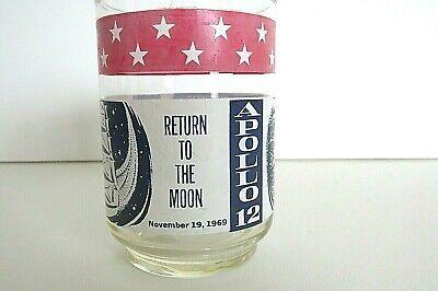 APOLLO 12 Return to the Moon 1969 NASA Collectible Glass Libby Flag Version