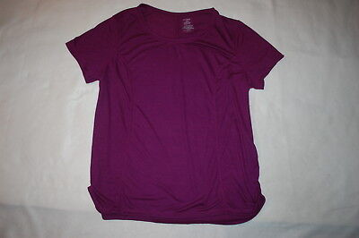 Womens PURPLE S/S KNIT ATHLETIC TEE SHIRT Loose Fit 2X 18W-20W