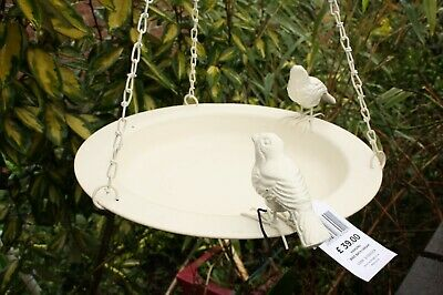 "IVYLINE Hanging Tray Wild Bird Bath Dish Dia 13""/33cm Seeds Nuts Fat Balls"
