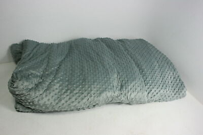 Quility Premium Adult Weighted Blanket & Removable Cover Queen Grey/Chevron