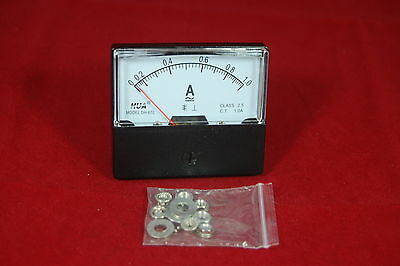 Ac 1a Analog Ammeter Panel Amp Current Meter Ac 0-1a 6070mm Directly Connect