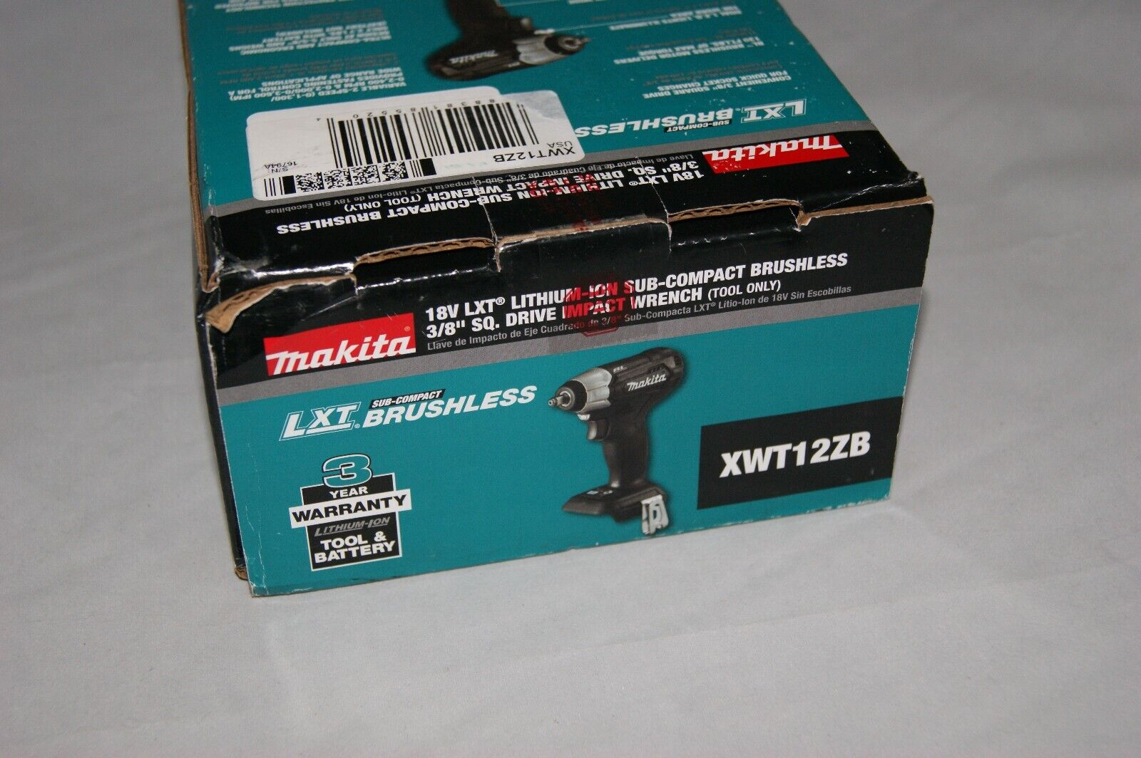 Makita XWT12ZB 18V LXT Lithium-Ion Sub-Compact Brushless Cor