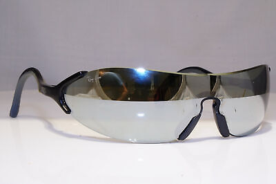 RAY-BAN Mens Vintage 1990 Sunglasses Black Shield XRAYS BAUSCH LOMB 24366