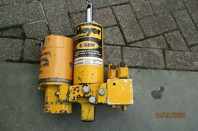 Meyer E-58h Snow Plow Pump Hydraulic Lift Unit Serviced Tested Great E58h