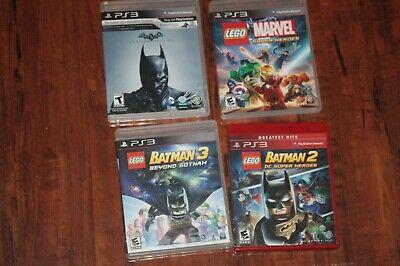 PS3 4 games!!! LEGO BATMAN 2 & 3, MARVEL SUPER HEROES, BATMAN ARKHAM ORIGINS