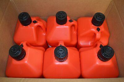 Generator Fuel Storage 5 Gallon Utility Fuel Dump Jug With Fill Hose Red