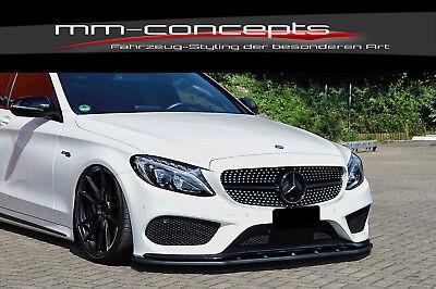 CUP Spoilerlippe für Mercedes C Klasse W205 C43 AMG Frontspoiler Spoilerschwert