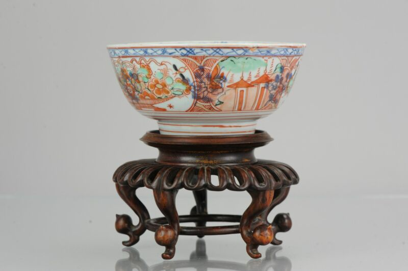 Antique 18th Imari Qing Dynasty Chinese Porcelain Amsterdams Bont Bowl  ...