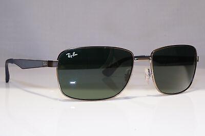 RAY-BAN Mens Designer Sunglasses Silver Square RB 3529 029/71 24399