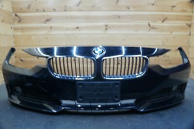 Front Bumper Cover Park Assist Black (668) OEM BMW 320 328 335 F30 2012-15