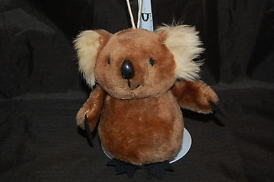 "Dakin Brown Koala Bear Black Cream Vintage 1979  Plush 5"" Toy"